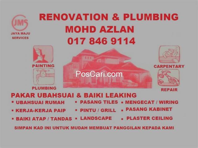 mohd azlan plumbing dan renovation 0178469114 wangsa maju