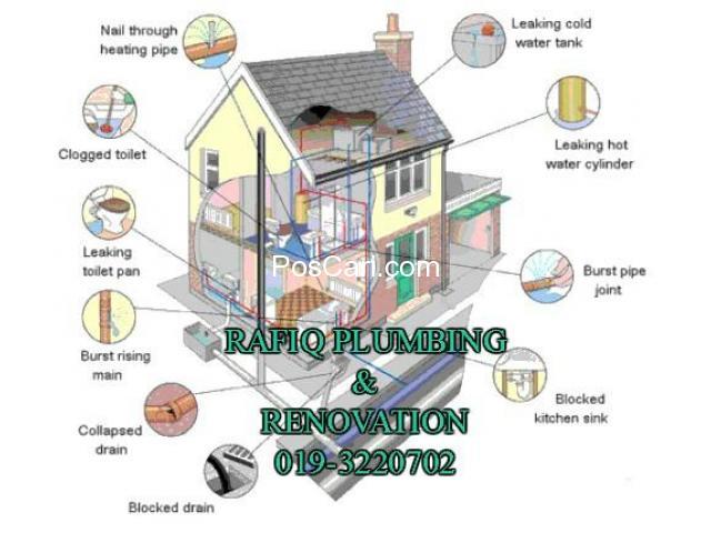 plumber tukang paip baiki atap bocor baiki singki/tandas tersumbat