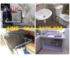 plumber tukang baiki paip sinki tandas tersumbat azis Taman Samudera Teres
