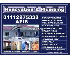 plumbing dan renovation azis area wangsa maju