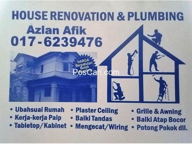 plumbing dan renovation  azlan afik taman setiawangsa