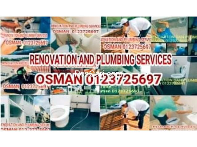 Osman Renovation And Plumber service/tukang paip Segambut