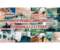 Osman Renovation And Plumber service/tukang paip Segambut