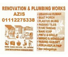 plumbing dan renovation 01112275338 azis taman desa melawati