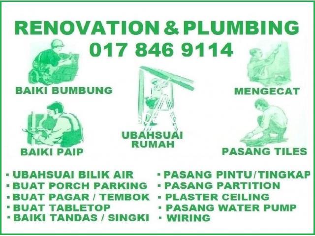 pumbing and renovation 0178469114 mohd azlan wangsa maju