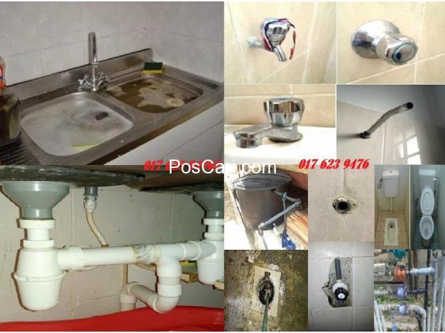 tukang paip plumber azlan afiq jalan SG 4/4 taman sri gombak