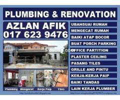 plumbing and renovation 0176239476 azlan afik wangsa maju